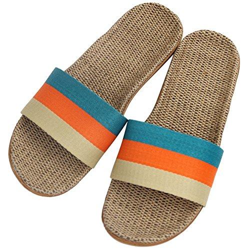 Home Pantoffels Dames Unisex Comfort Sandalen Slippers Blauw / Oranje / Beige