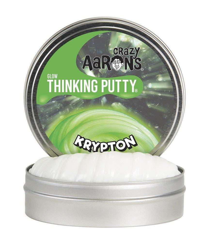 Crazy Aaron's Thinking Putty - Krypton Green Glow In The Dark Thinking Putty Crazy Aaron's Putty 5516283