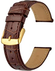 Anbeer Superior Crocodile Grain Leather Watch Band 18mm 20mm 22mm, Sports Style Bracelet Wristband
