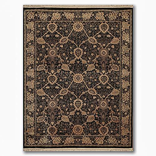 Amazon Com Louis De Poortere 5 8 X8 Black Tan Brown Color Machine