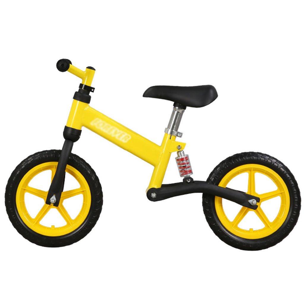 【あすつく】 子供のウォーカースライディングカーベビースクーターなしペダル自転車キッズトイレダブルホイール2-6歳 Yellow B07FZ4RKHF B07FZ4RKHF Yellow Yellow Yellow, SHAKE HANDS:38a7eadb --- a0267596.xsph.ru