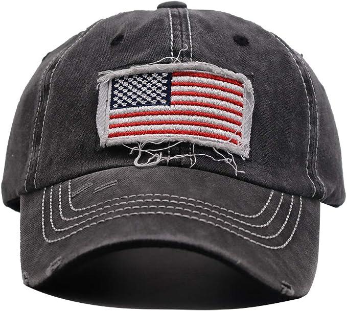 N/_A Maine State American Flag Adjustable Hat Baseball Cap Mesh Trucker Cap Dad Hat