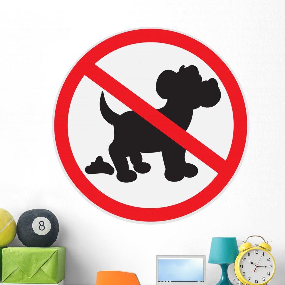 Amazon.com: Wallmonkeys no caca de perro cartel pared ...