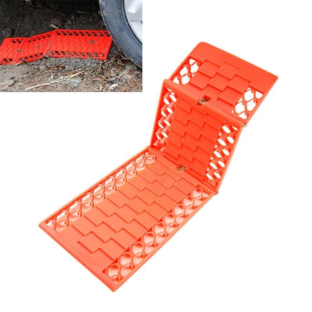 Lanxi - Planchas de rescate para ruedas, 2 piezas, para barro, nieve, tracció n, agarre de rueda en arena, para hielo, furgoneta, para rueda de emergencia de coche, con tacos de rescate de plá stico, relieve profundo para má xima sujec