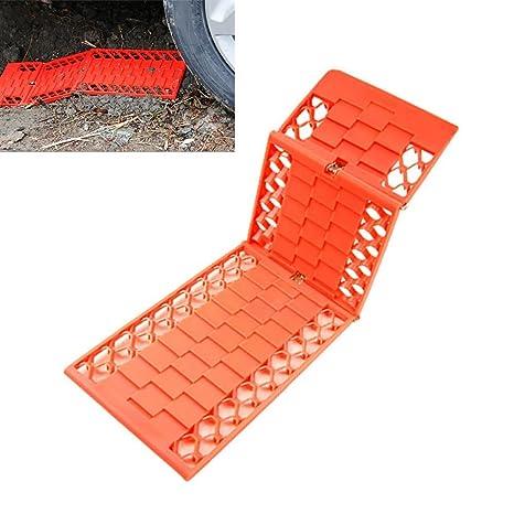 Placas de rescate para ruedas, para barro, nieve, tracción, agarre de ruedas