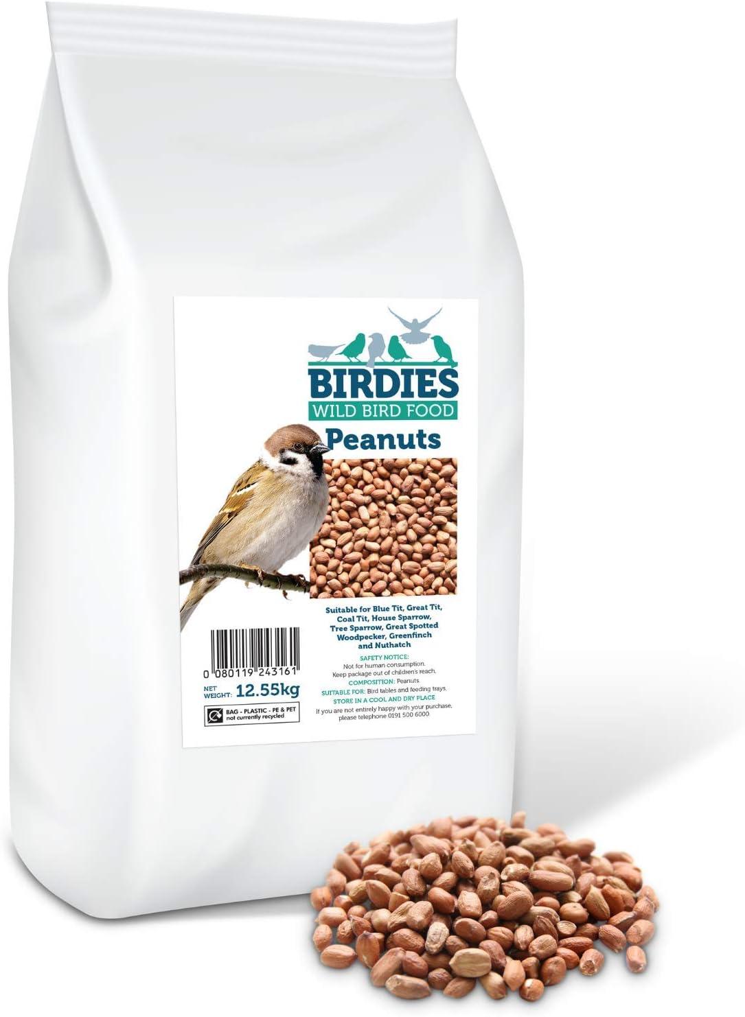 Birdies Wild Bird Food- Cacahuetes Premium para pájaros Silvestres - 12,55 kg