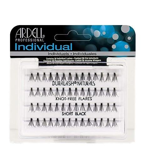 80de0cd9cbf Amazon.com : Ardell Duralash Naturals Flare Short Black (56 Lashes) (2  Pack) : Beauty