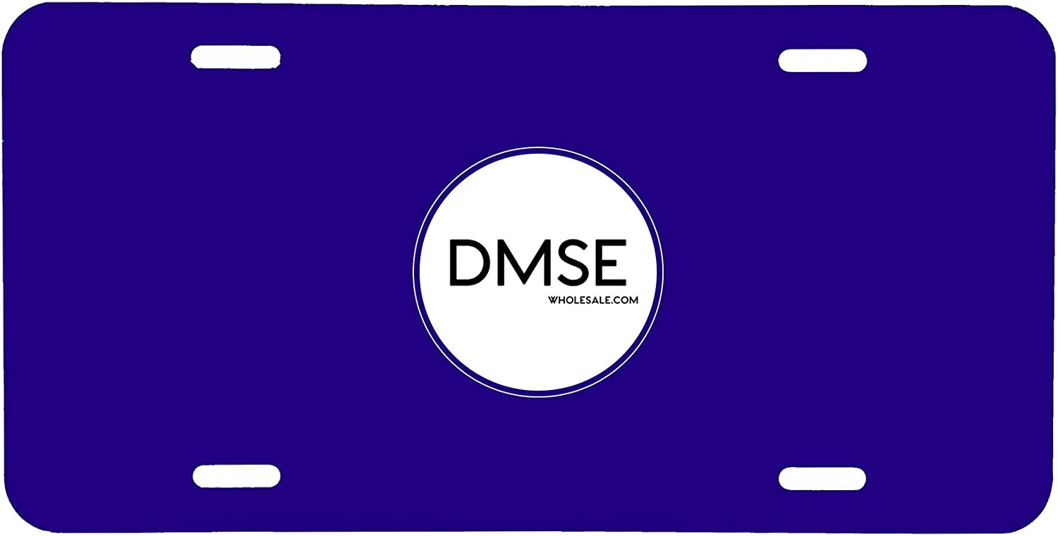 DMSE Wholesale Black Blank Metal Aluminium Automotive License Plate Plates Tag for Custom Design Work Black 0.025 Thickness//0.5mm US//Canada Size 12x6