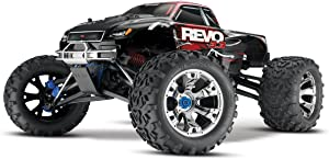 Traxxas Revo 3.3: 1/10 Scale 4WD Nitro-Powered Monster Truck with TQi 2.4GHz Radio & TSM, Red