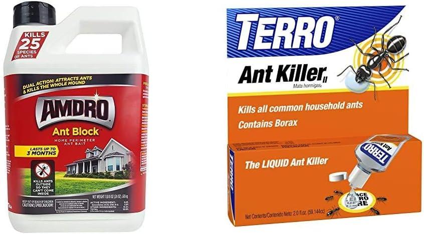 Amdro Ant Block Granule, 24 Ounce & TERRO 2 oz Liquid Ant Killer ll T200