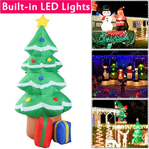 4 Ft Waterproof Inflatable Christmas Tree Decoration Lawn Yard In/Outdoor Art Happy - Stores The In Boulevard Mall