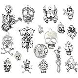 ALIMITOPIA Skull Head Charm Skeleton Bone Halloween DIY Jewelry Making Charm Pendant for Punk Necklace Bracelet Accessaries(1