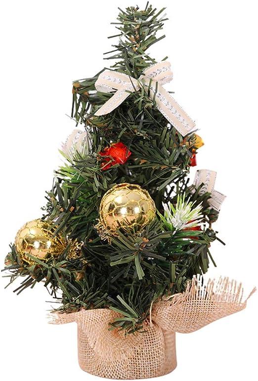 SunYueY Mini árbol de Navidad Mesa mostrador Adornos Falsos Mini árbol de Navidad, Golden: Amazon.es: Hogar