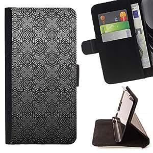 For Samsung Galaxy J1 J100 Case , Patrón Gris Gris a cuadros Wallpaper- la tarjeta de Crédito Slots PU Funda de cuero Monedero caso cubierta de piel