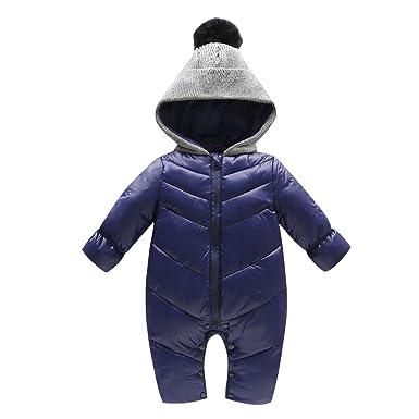 06c296fcfbcc De feuilles Infant Baby Girls Boys Cute Thick Warm Snowsuit Romper ...