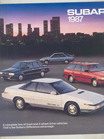 1987 Subaru XT Dl GL Wagon Coupe Brat Large Brochure