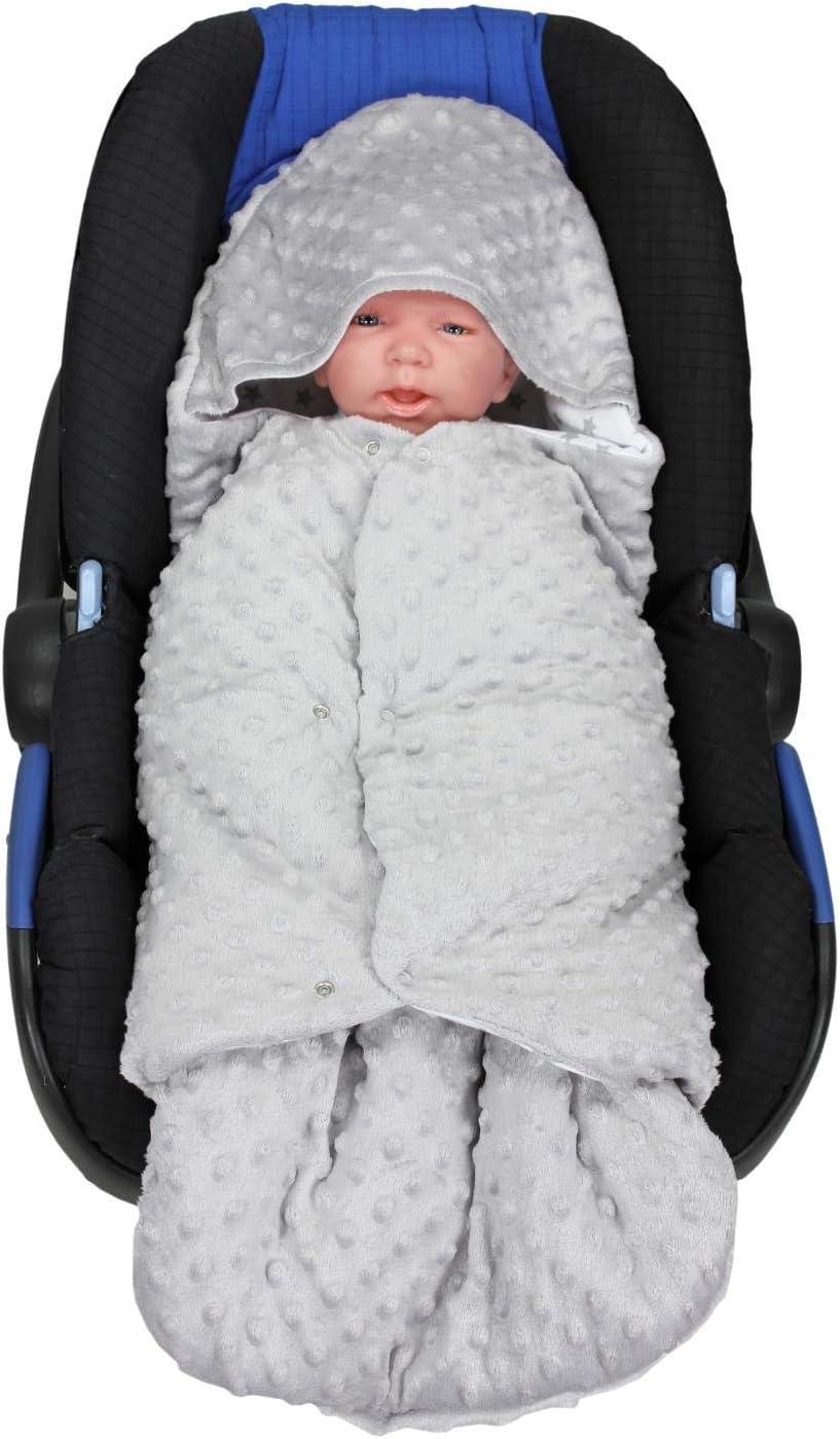 Minky Grau//Elefant TupTam Baby Einschlagdecke f/ür Babyschale Wattiert Farbe