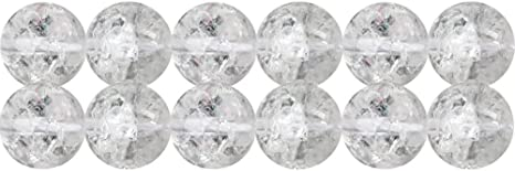 """15/"""" Natural Clear Crystal Quartz Stone Loose Spacer Beads Findings Craft 4-10MM"""