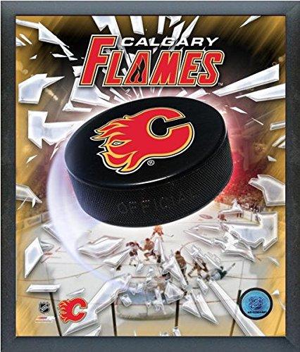 Calgary Flames NHL Team Logo Puck Photo (Size: 12