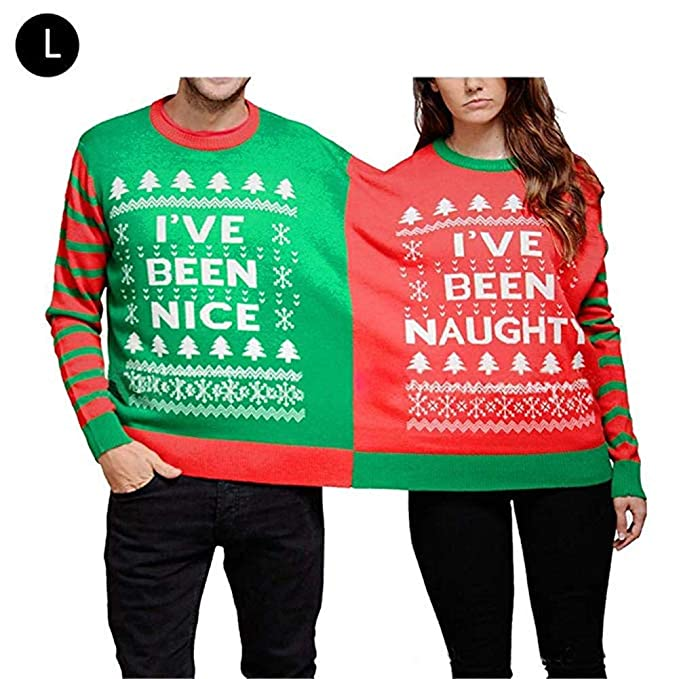 2 Person Christmas Sweater.Benegreat Women And Men 2 Person Christmas Jumper Lovers