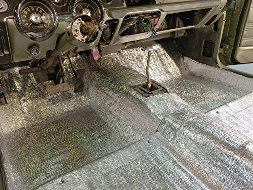Car Insulation - 4' x 33 5' Roll (134 Sqft) Sound Deadener & Heat Barrier  Mat - Automotive Lightweight Thermal Insulation