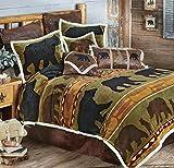 Black Forest Decor Bear Cabin Plush Bed Set - Twin