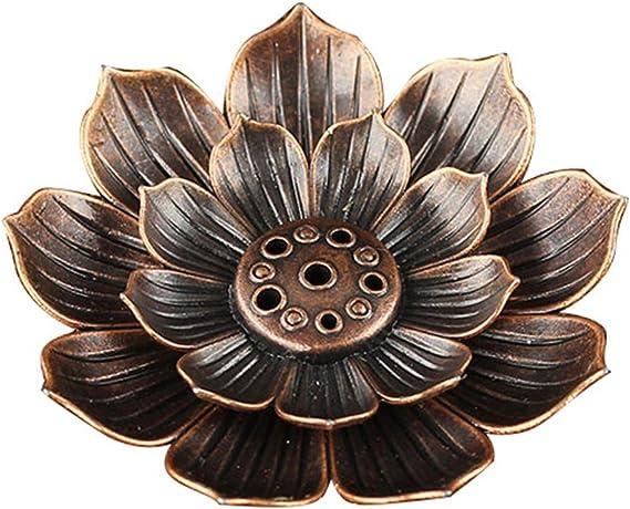 芳香器・アロマバーナー 仏教ロータスコイル香炉仏教寺院のお香研究は、ラインバーン香炉合金支持板スティックバーナープレート アロマバーナー芳香器
