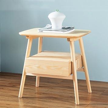 Tang Chao Kleines Lagerregal Regal Massivholz Nachttisch Einfache