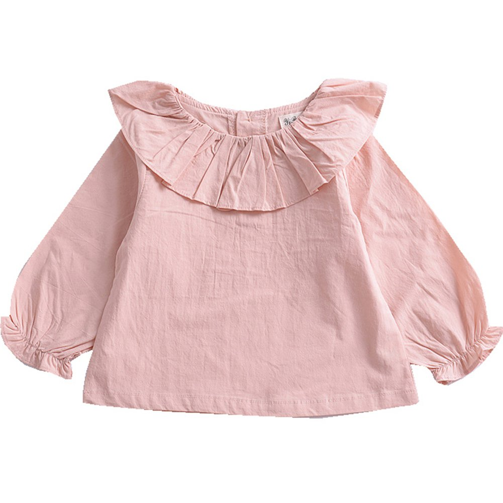 XUNYU Baby Girls T Shirt Long Sleeve Solid Infant Tops Cotton Toddler Casual Blouse Summer Tee