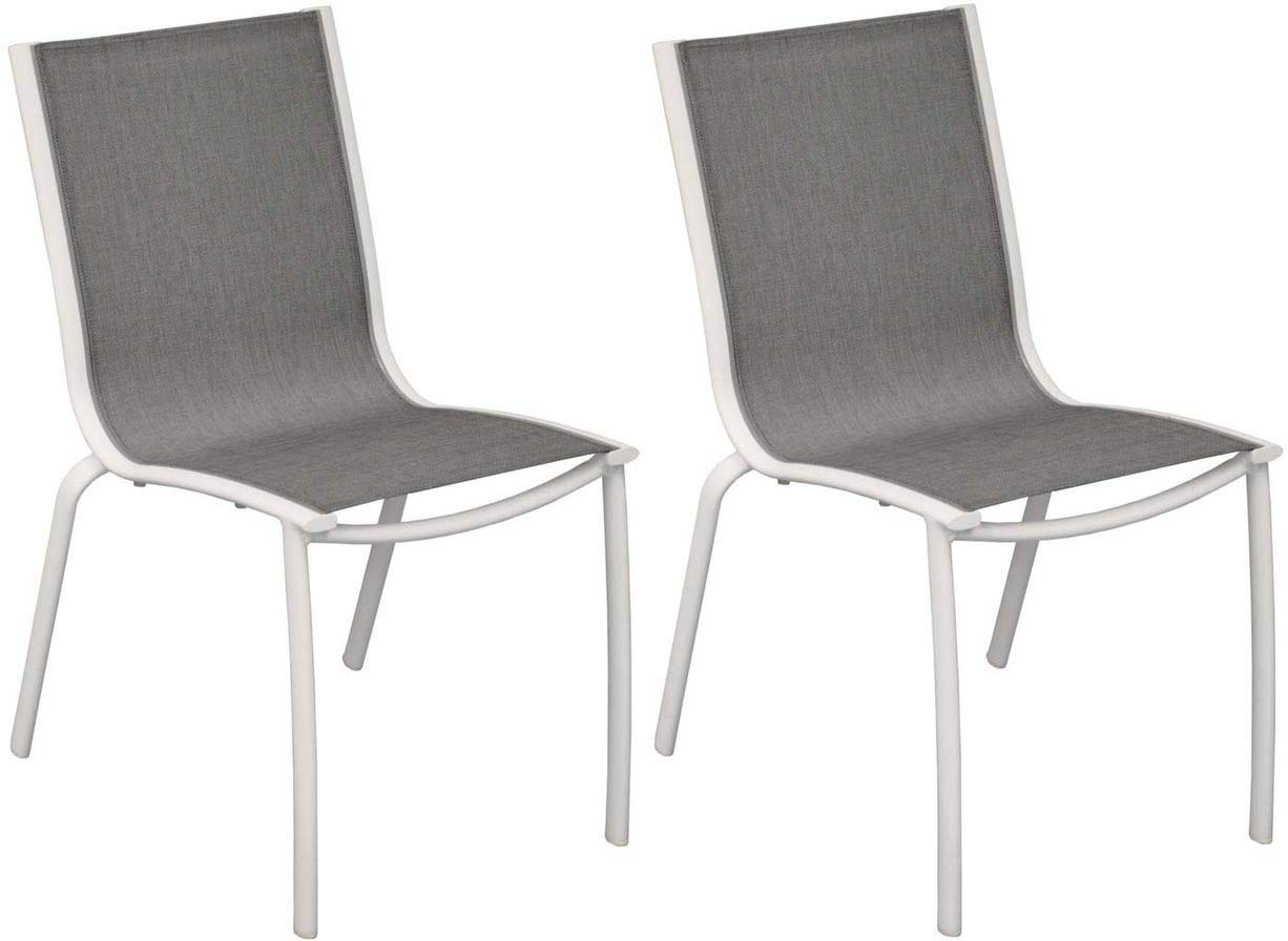 2 Proloisirs de textilène LineaLot Chaise aluminium b6yv7Yfg