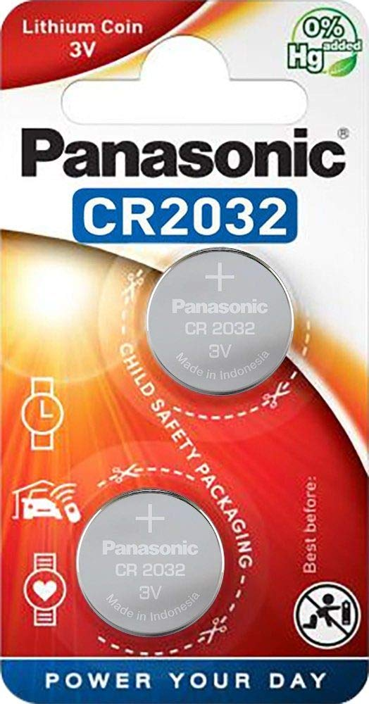 Panasonic CR2032 3V Coin Cell Batteries (Silver) - Pack of 2 product image