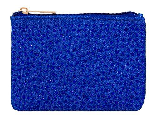 fermeture Gris pochette maquillage pour DIVA éclair orné femme femmes monnaie 's haute Roi neuf sac petit Small diamant Bleu pour Porte de qT7UfcwP