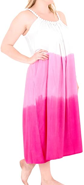 74be34bfd3 Image Unavailable. Image not available for. Color: Womens Tie Dye Beachwear  Swimwear Rayon Caftan Multi Plus Cover ups Pink