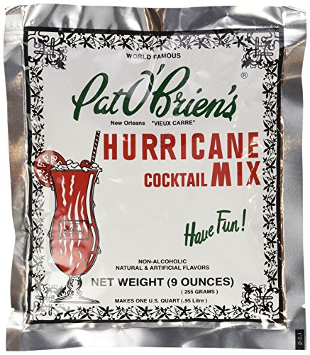 Drink Rum Hurricane - Pat O'brien's World Famous Hurricane Cocktail Mix 9 ounce - Pack of 3