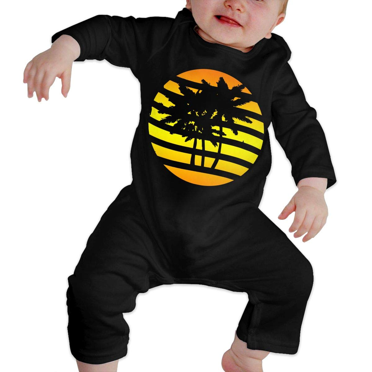 Baby Girl Jumpsuit Palm Trees and Sunset Baby Clothes