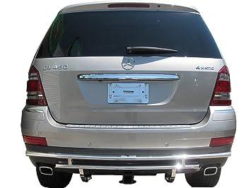 Vanguard 2007 - 2012 Mercedes Benz GL-Class X164 Parachoques Trasero Protector Doble Capa S/S: Amazon.es: Coche y moto