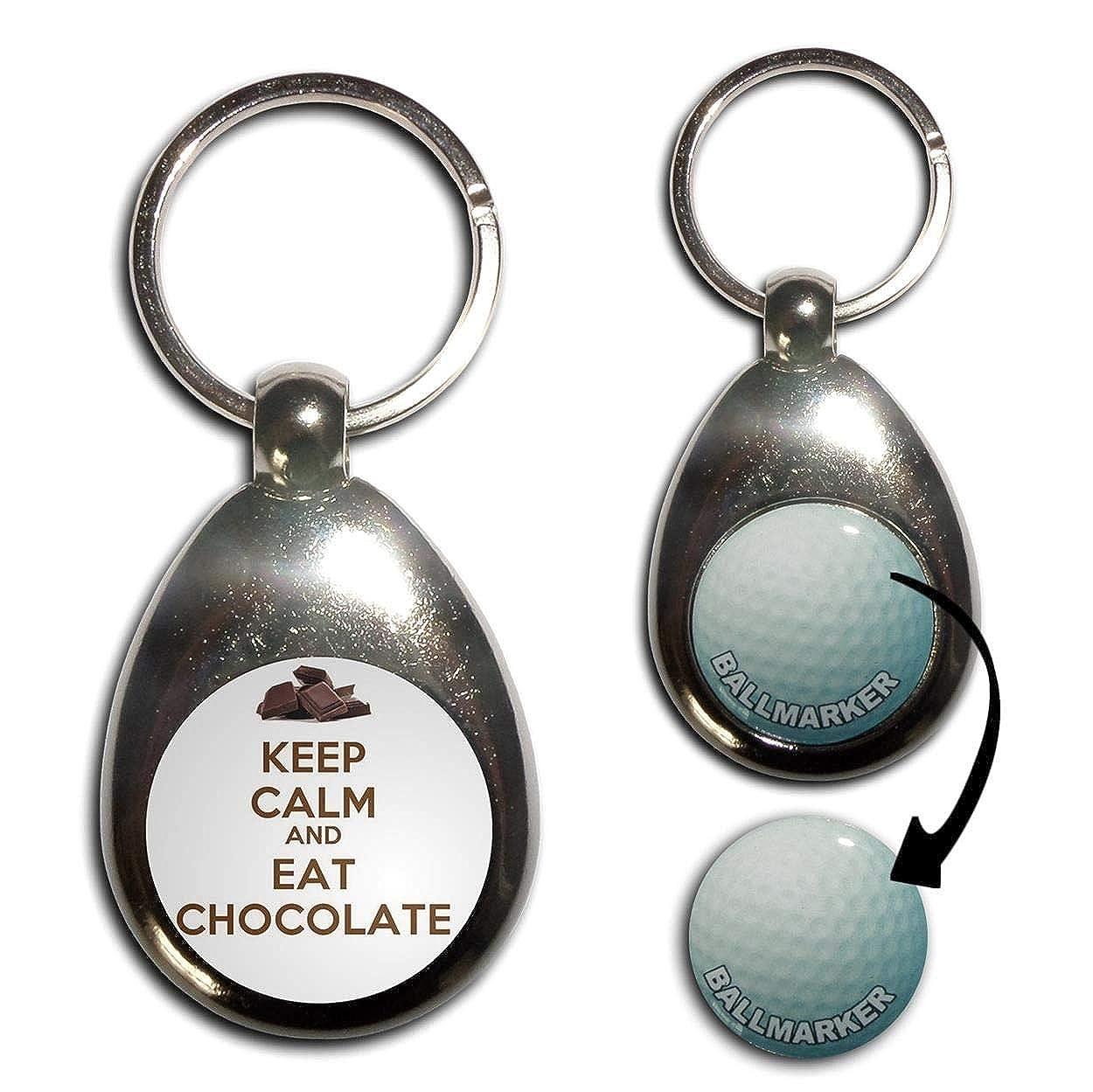 BadgeBeast.co.uk Keep Calm and Eat Chocolate - Llavero ...