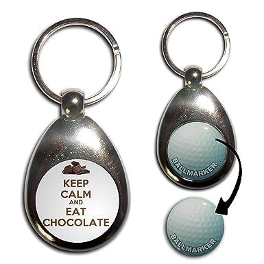 Amazon.com: Keep Calm And Eat Chocolate – Llavero de ...