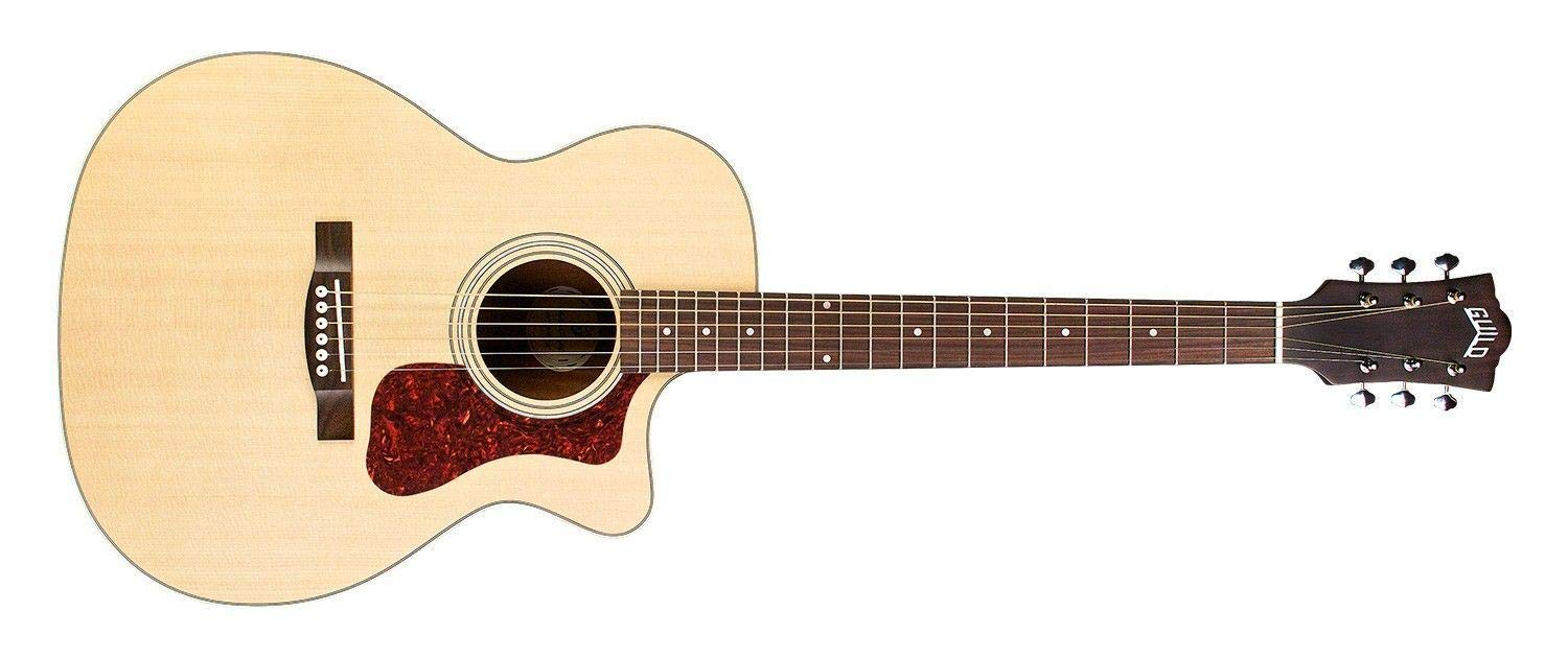 Guild OM-240CE Acoustic-Electric Guitar in Natural by Guild Guitars
