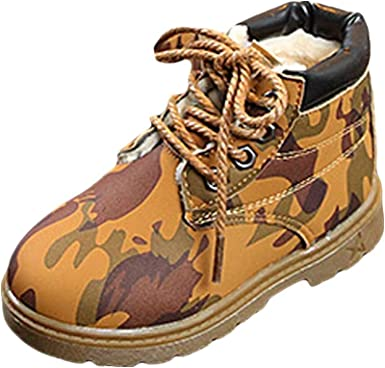 Martin Boots Kids Camouflage Toddler Girls Boys Winter Snow Boots Warm Shoes