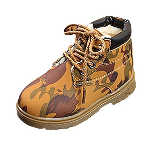 4bf2c480316e1 Infant Baby Toddler Boys Girls Camouflage Martin Boots Kids Shoes Winter  Warm Snow Boots 1-3.5 Years Old
