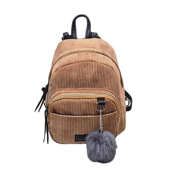 7d7146ae5d470 Sfit Damen Mini Rucksack Vintage Corduroy Daypack Schultasche Lässige  Tagesrucksäcke Umhängetasche