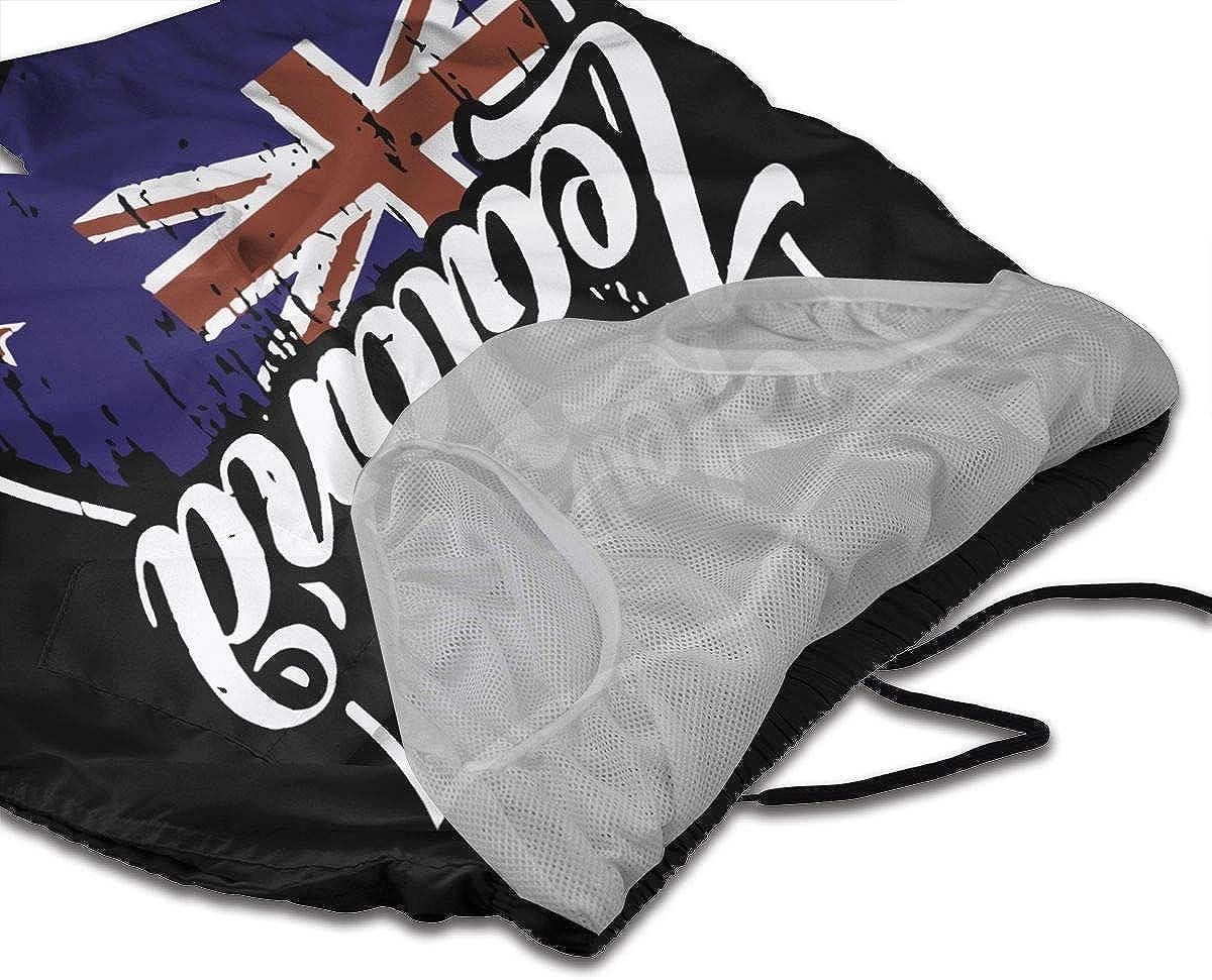 Ling Lake New Zealand Flag Mens Beach Shorts Board Shorts Summer Swim Trunks