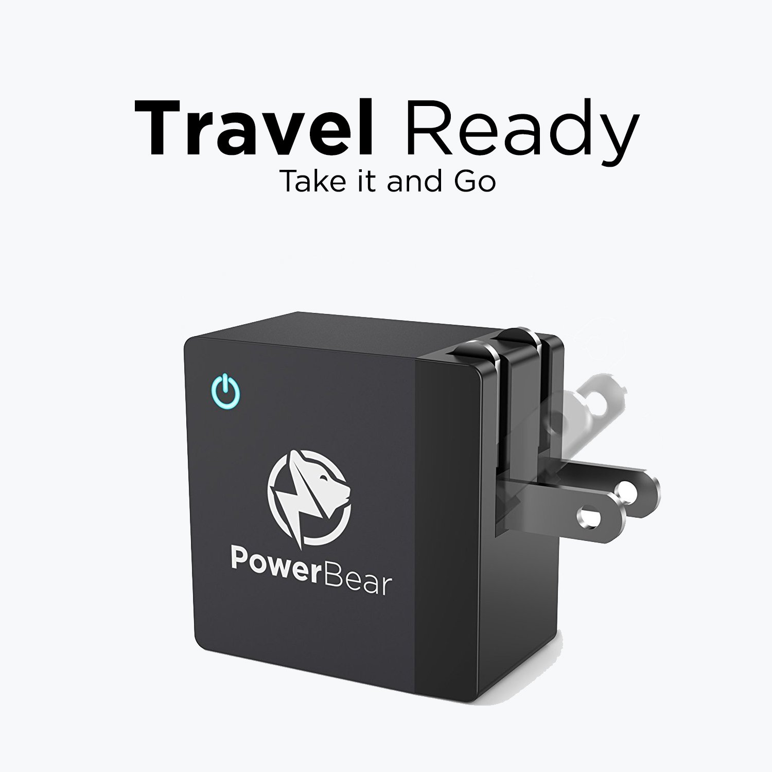 PowerBear USB Charger [18W] Qualcomm 3.0 Fast Charger, USB Wall Charger, Fast Charger, Android Charger for Samsung, LG, HTC, iPhone & More with Cable – Black [24 Month Warranty] by PowerBear (Image #5)