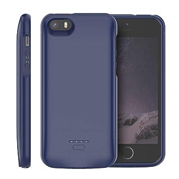iPhone SE 5SE 5 5S Funda Batería, 4000mAh Batería Recargable Externa Power Bank Backup Ultra Delgada Protector portátil Carga Caso de Prueba de Choque ...