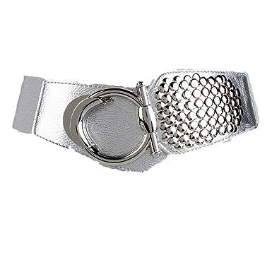 SHANYIN YD Vestido jeans práctico cinturón para damas cinturón de ...