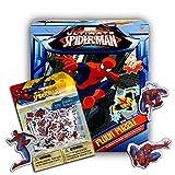 Marvel Spiderman Giant Floor Puzzle for Kids (3 Foot Puzzle, 46 Pieces-- Bonus Spiderman Stickers)