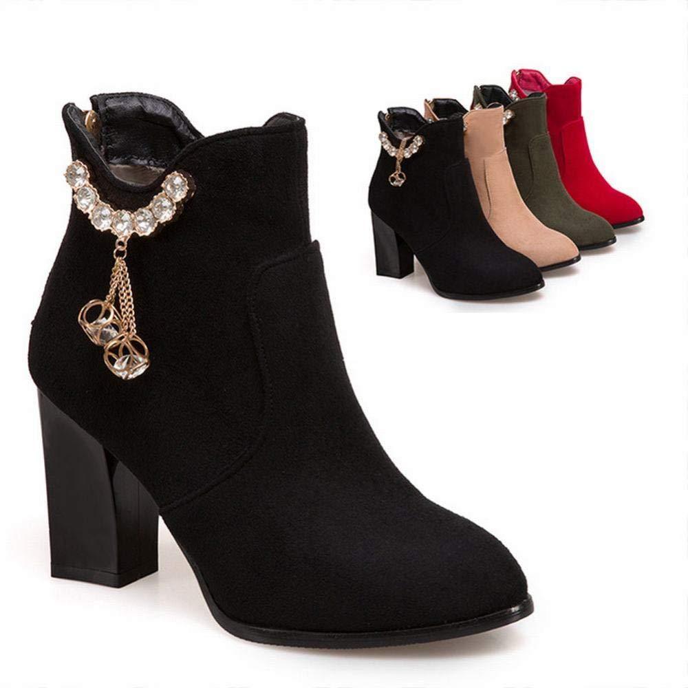 Stiefel Frauen GZ 36 43 Stiefel Frauen Ferse Dicke Heel