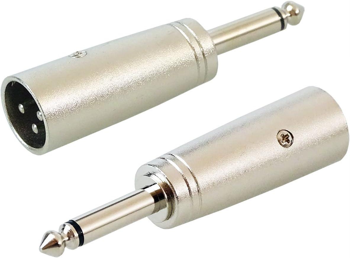 keepdrum ADA008 XLR-Adapter XLR male zu 6,3mm Klinke-Stecker 2 ST/ÜCK