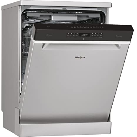 Whirlpool WFO 3O33 DL X Independiente 14cubiertos A+++ lavavajilla - Lavavajillas (Independiente, Acero inoxidable, Tamaño completo (60 cm), Negro, ...